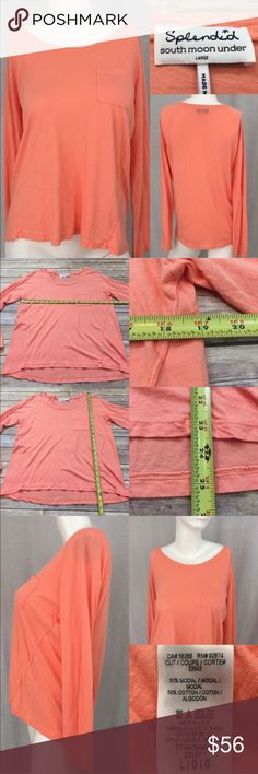 💫Sz Large Anthro Splendid Hi/ Low Long Sleeve Top Measurements are in photos. Normal wash wear, no flaws. D3  I do not comment to my buyers after purchases, due to their privacy. If you would like any reassurance after your purchase that I did receive your order, please feel free to comment on the listing and I will promptly respond.   I ship everyday and I always package safely. Thank you for shopping my closet! Anthropologie Tops