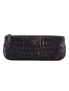 Evening ready with this Prada Crocodile Clutch.