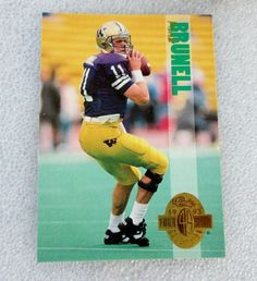 RARE MARK BRUNELL CLASSIC FOUR SPORT ROOKIE NFL FOOTBALL CARD! 93 NR/M #RC #JacksonvilleJaguars