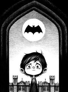 'Young Bruce' by Seb Mesnard for the upcoming Batman 75th Anniversary at Mondo Gallery.