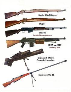 Wyszczególniona broń kampanii wrześniowej 1939. Grafika. weaponland.ru