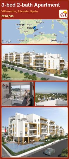 3-bed 2-bath Apartment in Villamartin, Alicante, Spain ►€240,000 #PropertyForSaleInSpain