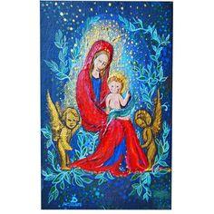 """Gods"" 10*15 ; oil,acrylic #art #dariaabsolute #god #oil #painting #acrylic #drawing #artist #illustration #illustrator #paint #love #instaart #Saint #visionaryart #cosmism #visionary"