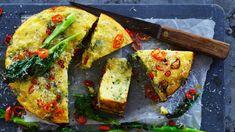 Roasted broccoli, chilli and ricotta cake