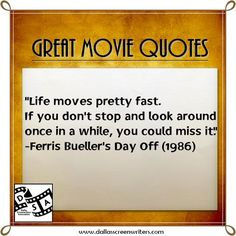 #Movie #Quotes Ferris Bueller's Day Off