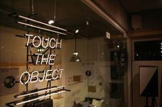 """Touch the object"" pop up store at 1984 in Seoul, South korea. Pop Up, Track Lighting, Ceiling Lights, Touch, Studio, Cool Stuff, Store, Home Decor, Homemade Home Decor"