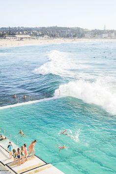 Bondi, Sydney, Australia by Christie Moore Photography Bondi Icebergs, Sydney Beaches, Famous Beaches, Bondi Beach, Beach Tops, Beach Pictures, My New Room, Luxury Travel, The Great Outdoors