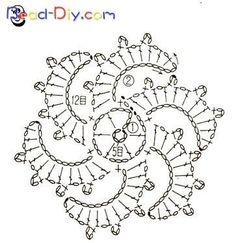 Best 12 – Page 353321533259255840 - Her Crochet Crochet Motif Patterns, Crochet Symbols, Crochet Diagram, Freeform Crochet, Crochet Chart, Crochet Squares, Love Crochet, Irish Crochet, Crochet Designs