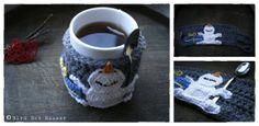 Christmas Cup Cozy Crochet Pattern by BirdBotBazaar on Etsy