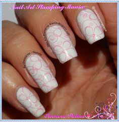 Nail Art Stamping Mania: Wet n Wild French White Crème And Born Pretty BP Plate http://nailartstampingmania.blogspot.it/2015/01/wet-n-wild-french-white-creme-and-born.html