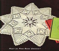 \ PINK ROSE CROCHET /: Star Shaped Doily - Centrinho Estrela - Crochê