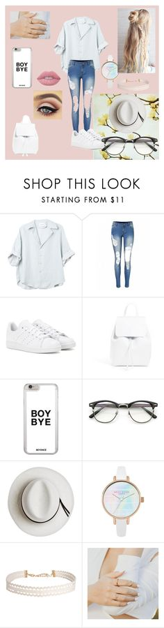"""""""ok"""" by amiyeobo on Polyvore featuring adidas, Mansur Gavriel, Calypso Private Label, Humble Chic and Lime Crime"""