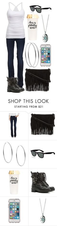 """""""Untitled #2406"""" by toxic-kit-katt ❤ liked on Polyvore featuring Armani Jeans, Rebecca Minkoff, Michael Kors, Ray-Ban, American Eagle Outfitters, RED Valentino and Monica Rich Kosann"""