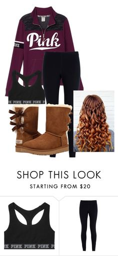 """""""School Outfit"""" by chloefaust on Polyvore featuring Victoria's Secret, NIKE and UGG"""