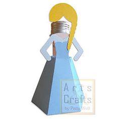 Porta Tubete Elza. Projeto de corte no formato GSD, à venda nos sites: http://www.artscrafts.com.br/ e http://www.cortecrie.com.br/