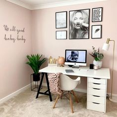 55 Creative Design Ideas for Office Spaces – Home Deco. - 55 Creative Design Ideas for Office Spaces – Home Deco… 55 Creative Design Ideas for Office Spaces – Home Decor Cozy Home Office, Home Office Space, Home Office Decor, Unique Home Decor, Office Spaces, Office Workspace, Office Room Ideas, Creative Office Decor, Office Inspo