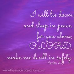 """✝✡Psalms 4:8 KJV✡✝ #Shalom Everyone!! ( http://kristiann1.com/2015/05/20/p48/ ) """"I will both lay me down in peace, and sleep: for thou, LORD ( ADONAI ), only makest me dwell in safety.""""  ✝✡""""Am Yisrael Chai, Yeshua Adonai""""✡✝ ✝✡Hallelujah & Shalom!! Kristi Anne✡✝"""