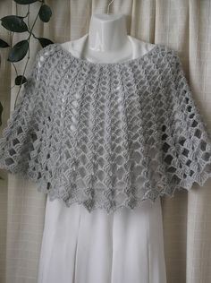 Crochet Ivory colour Shrug, Mohair Women's Shawl - Wrap - Poncho - Shrug, size I knit to order. This Shawl - Wrap - Poncho measurements: Length - about 35 cm / 14 inches. Crochet Cape Pattern, Crochet Cardigan Pattern, Crochet Blouse, Easy Crochet Patterns, Crochet Shawl, Thread Crochet, Diy Crochet, Crochet Wedding, Crochet Clothes