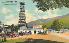 FRANCONIA NOTCH, NEW HAMPSHIRE Linen Indian Head Tower Curt Teich 8046 postcard