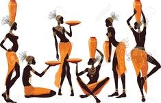 African Women Isolated Over White Background Royalty Free Cliparts ...