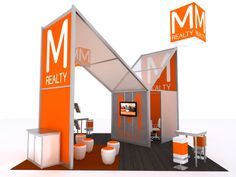 Custom modular trade show displays and exhibits that offer high-impact design and creativity. Exhibition Stall, Exhibition Display, Exhibition Ideas, Stand Design, Booth Design, Shopping Mall Interior, Wine Display, Display Ideas, Hybrid Design