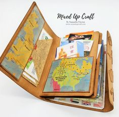 DIY Travel Journal Hello everyone, I'm really excited about today's project. Here is my DIY Travel Journal. Using my favourite Kraft card this is a really strong and tough journal making it perfect to car… Kids Travel Journal, Travel Journal Scrapbook, Travel Journals, Mini Album Scrapbook, Travel Maps, Diy Travel Books, Paris Travel, Diy Travel Album, Travel Ideas
