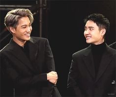 Just kyungsoo and jongin laughing :)