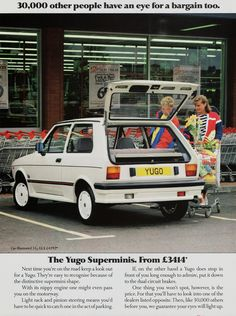 A U.K ad for the Legendarily sexy Yugo from 1987 http://ift.tt/2hOjqaA