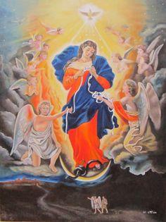 Madonna who unties knots, oil paint 60x80cm