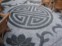 Chinese Courtyard mosaic floor