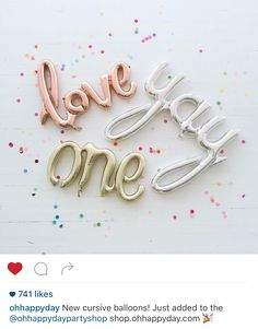 "Mylar Script Balloon ""Love"" – Oh Happy Day Shop Party decor supplies Letter Balloons, Foil Balloons, Party Decoration, Balloon Decorations, Balloon Ideas, Balloon Garland, First Birthday Parties, First Birthdays, Birthday Kids"