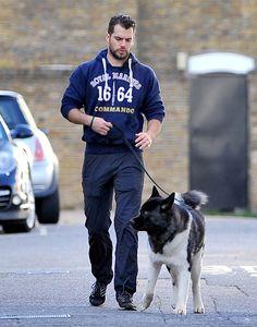 Henry Cavill walks his dog in London, October 13