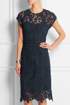 J.Crew|Collection scalloped guipure lace dress