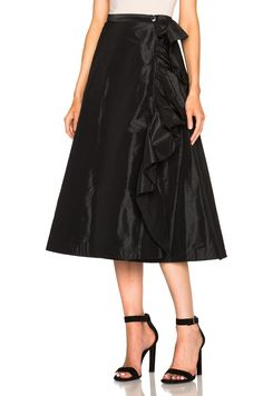Taffeta A Line Ruffle Skirt - Brought to you by Avarsha.com
