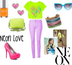"""Neon Love"" by classyinpink on Polyvore"