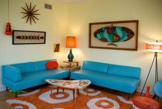Retro Living Room | Vintage Apartment Living Rooms