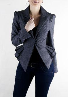 adelle jacket. $119.90, via Etsy. Vestidos Vintage, Cute Jackets, Looks Cool, African Fashion, Fashion Forward, What To Wear, Style Me, Stylish, Womens Fashion