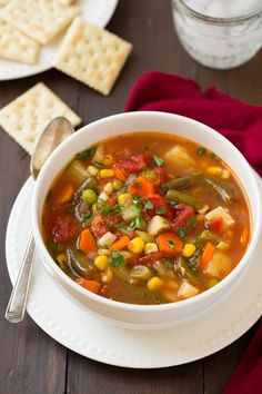 Vegetable Soup, literally the best I've ever made! I was sick for a week and this got me through the day.