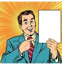 Retro man with a poster pop art vector Magie Du Chaos, Keep Calm, Illuminati, Pinup, Banners, Desenho Pop Art, Rose Croix, Comic Book Layout, Comic Art