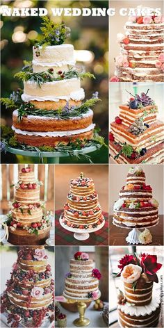 no icing wedding cakes