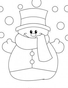 snowman coloring page (1)