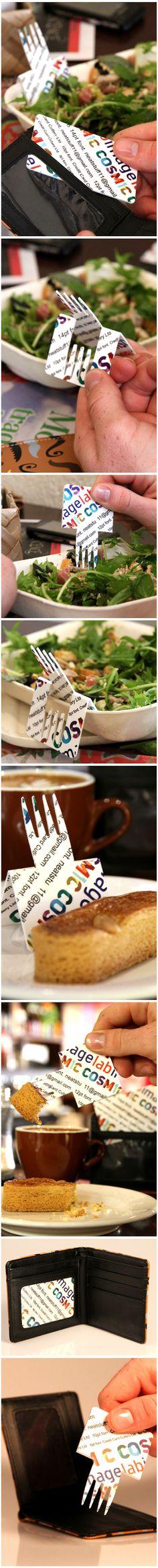 Credit Card Cutlery by Devon Briggs