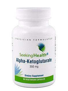 Alpha-Ketoglutarate | Provides 350 mg of Pure Alpha-Ketoglutarate Acid (AKG) | 60 Easy-To-Swallow Vegetarian Capsules | Non-GMO | Physician Formulated | Seeking Health