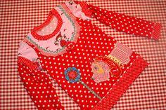 Genähtes mit Herz: Shirt Lina, Schnitt von Ki-ba-doo, Stickdatei von Tinimi