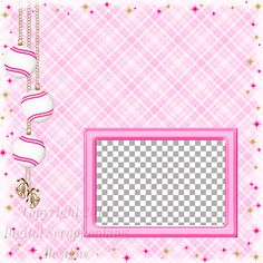 "Layout QP 2E-2 Pink.....Quick Page, Digital Scrapbooking, Christmas Time Collection, 12"" x 12"", 300 dpi, PNG File Format"