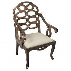 Noir Cesara Arm Chair - Saddle Brown