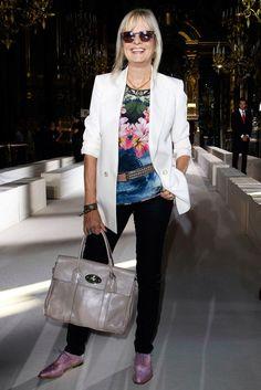 Stella McCartney Spring 2012 Ready-to-Wear Front Row Celebrity Photos - Twiggy