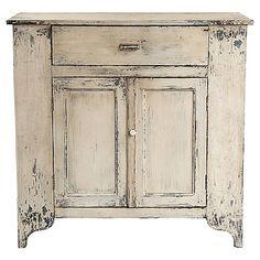 Cream Farmhouse-Style Cabinet