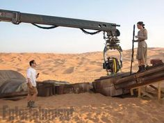 Star Wars The Force Awakens - Daisy Ridley and JJ Abrams