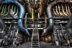 """Two's """"Anti-gravity Generator"""" Abandoned Buildings, Abandoned Places, Abandoned Factory, Ghost In The Machine, Industrial Architecture, Futuristic Art, Industrial Photography, Mechanical Design, Environment Design"""